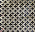 Polished Brass Grille Small Club Perforated Sheet 1000mm x 660mm x 0.7mm